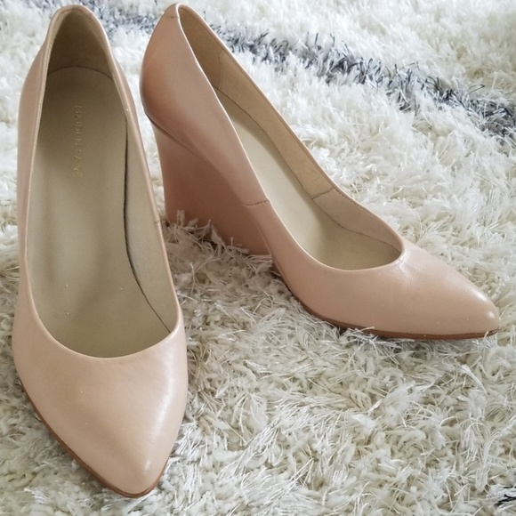 Maiden Lane Nude Leather Pointed Toe